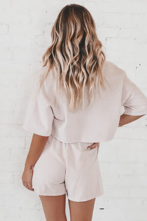 News To Me Blush Collared Set