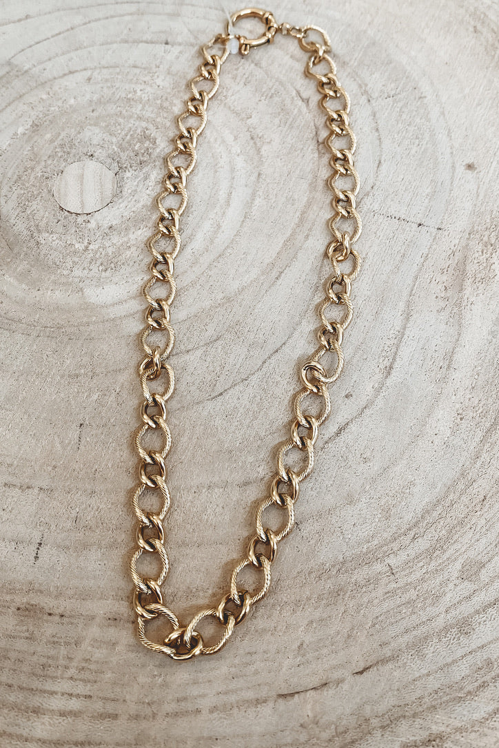 SAHIRA 18k Gold Sienna Links Chain