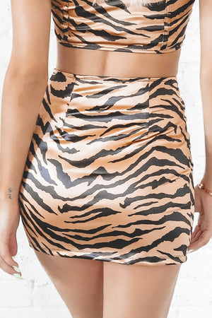 MOTEL Zigi Skirt Tiger Gold