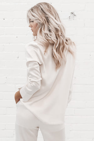 SALTWATER LUXE Toby Jacket - Stone Textured In White