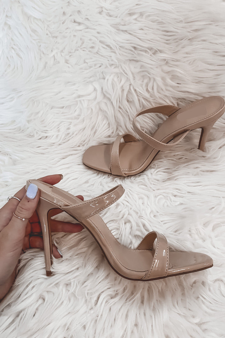 Flare For Dramatics Nude Heels