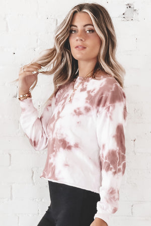 Look At Her Now Mauve Tie Dye Pullover