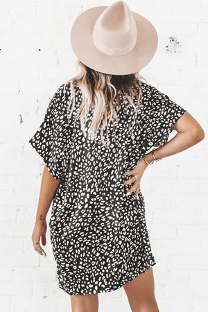 I Want It All Black Spotted Tunic Dress