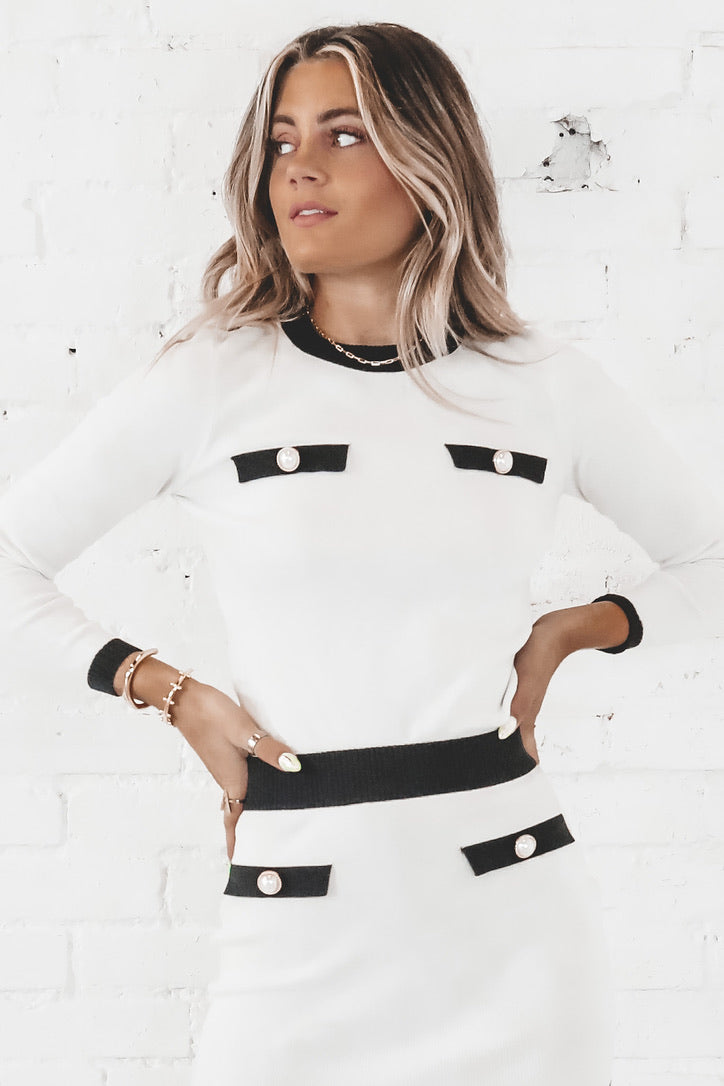 Leave A Message Ivory Sweater Top
