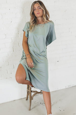 Moving Fast Pistachio Lounge Dress