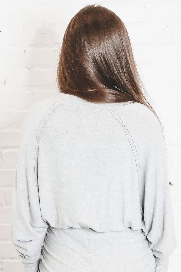 Can't Live Without Gray Crewneck Pullover