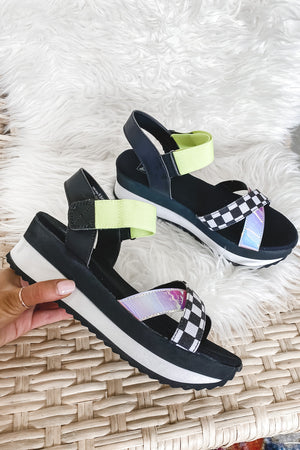 DIRTY LAUNDRY Get Some Checkered Sandal