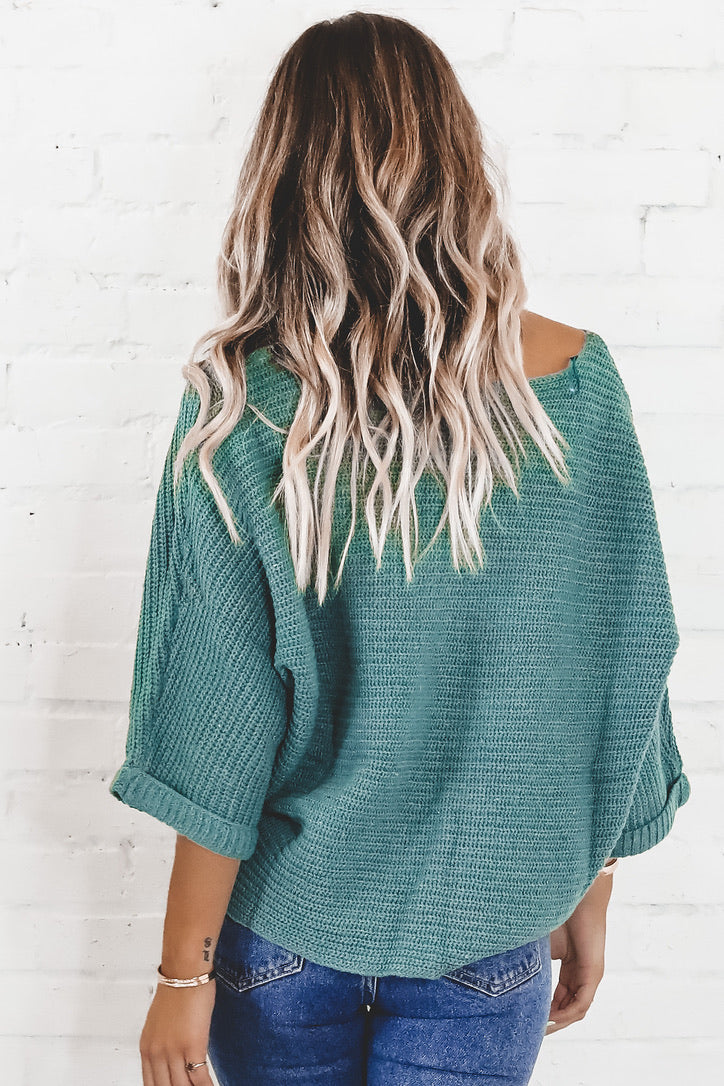 SADIE & SAGE Emerald Chalet Sweater