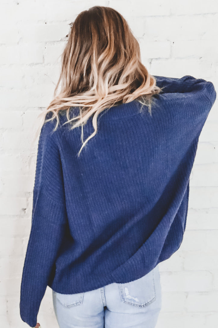 SADIE & SAGE First Light Navy Cardigan