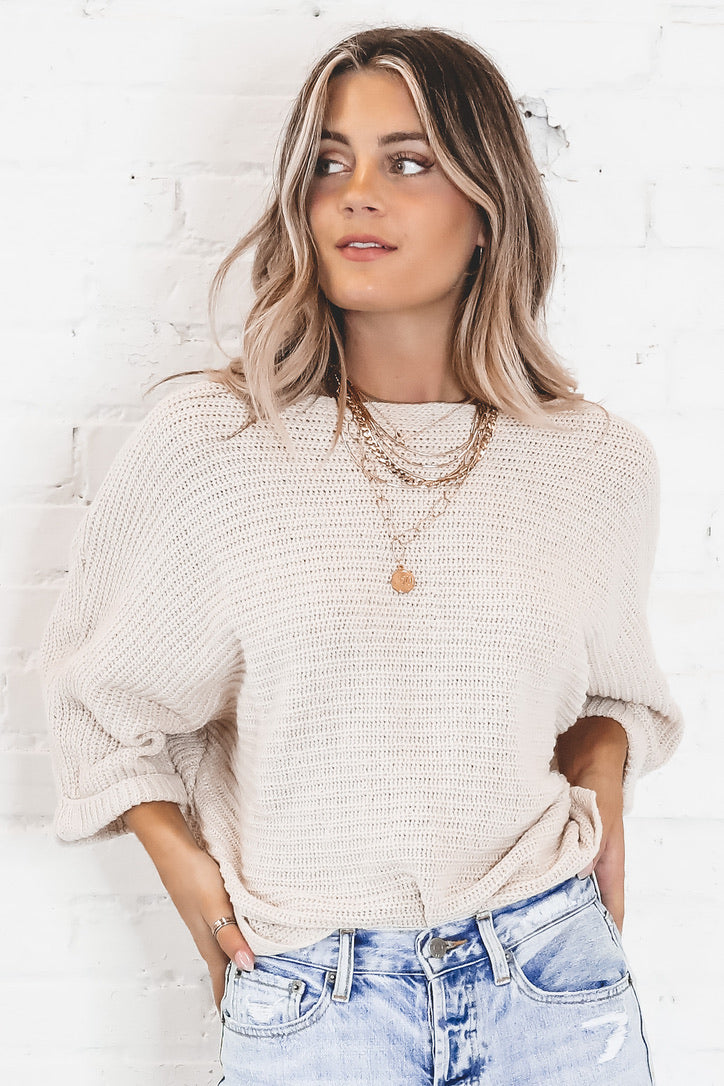 SADIE & SAGE Cream Chalet Sweater
