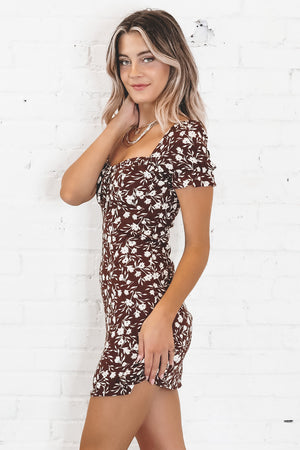 Cheer Up Buttercup Sienna Floral Print Dress