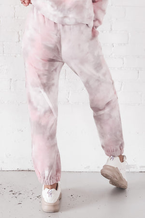 Sweet As Candy Pink Tie Dye Joggers