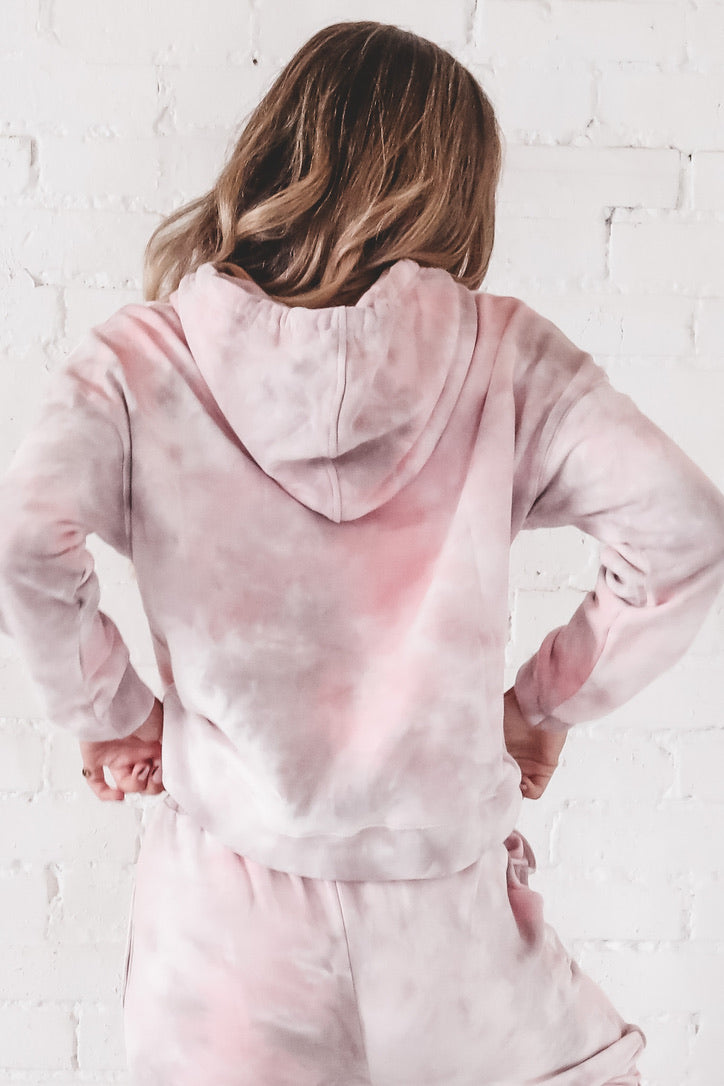 50% OFF ONE DAY ONLY - Sweet As Candy Pink Tie Dye Hoodie