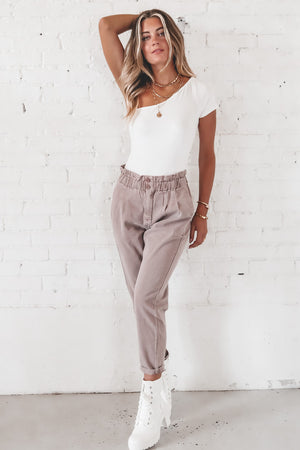 Dusk To Dawn Lilac Paper Bag Pants