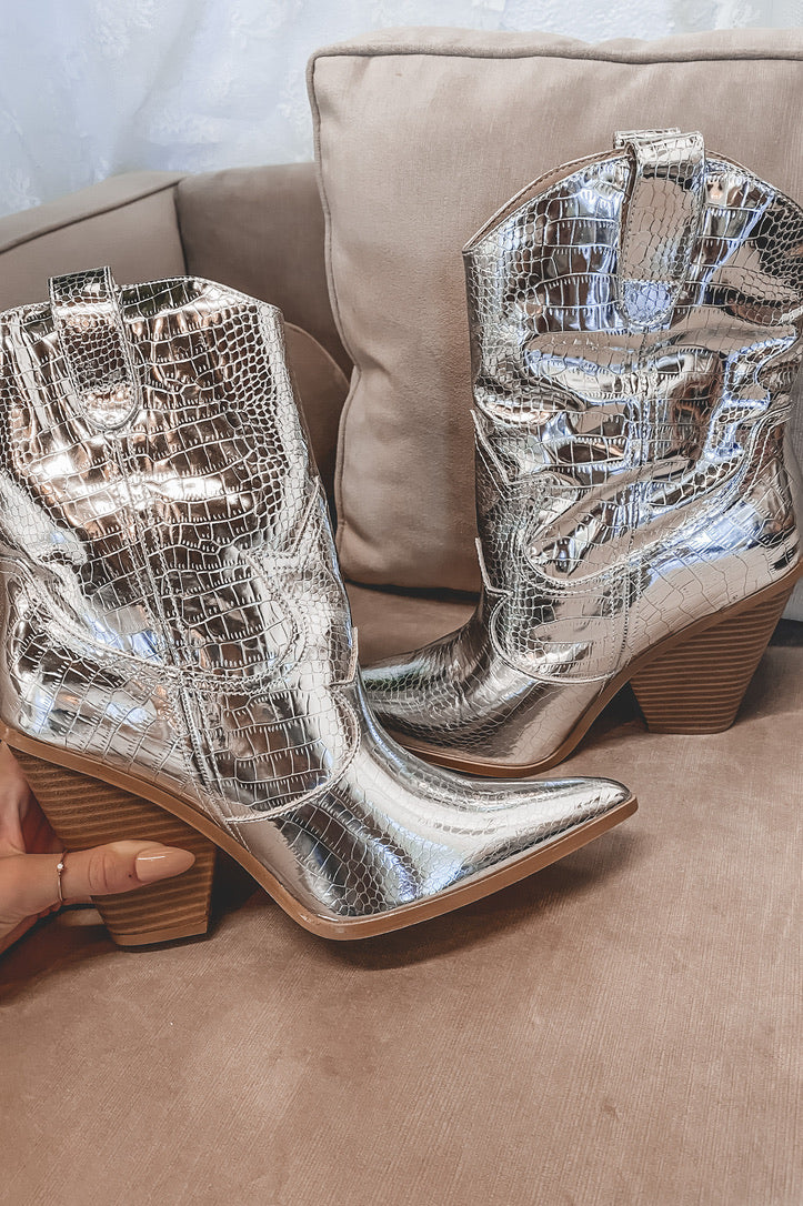 Runaway Barbie Silver Boots