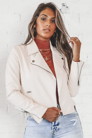 Dirty Martini Cream Leather Jacket