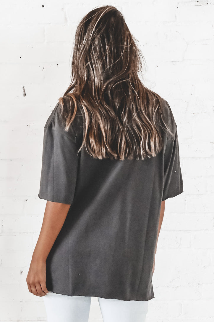 Just Another Day Gray Oversized Tee