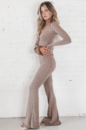 I Wanna Be Famous Taupe Pants Set
