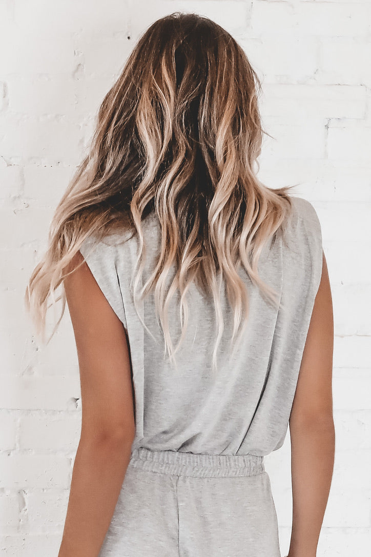 That's So Fetch Gray Knit Top