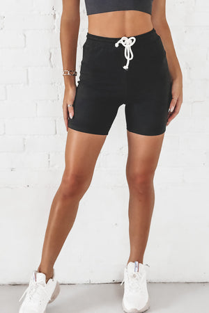 Windows Down Black Lounge Shorts
