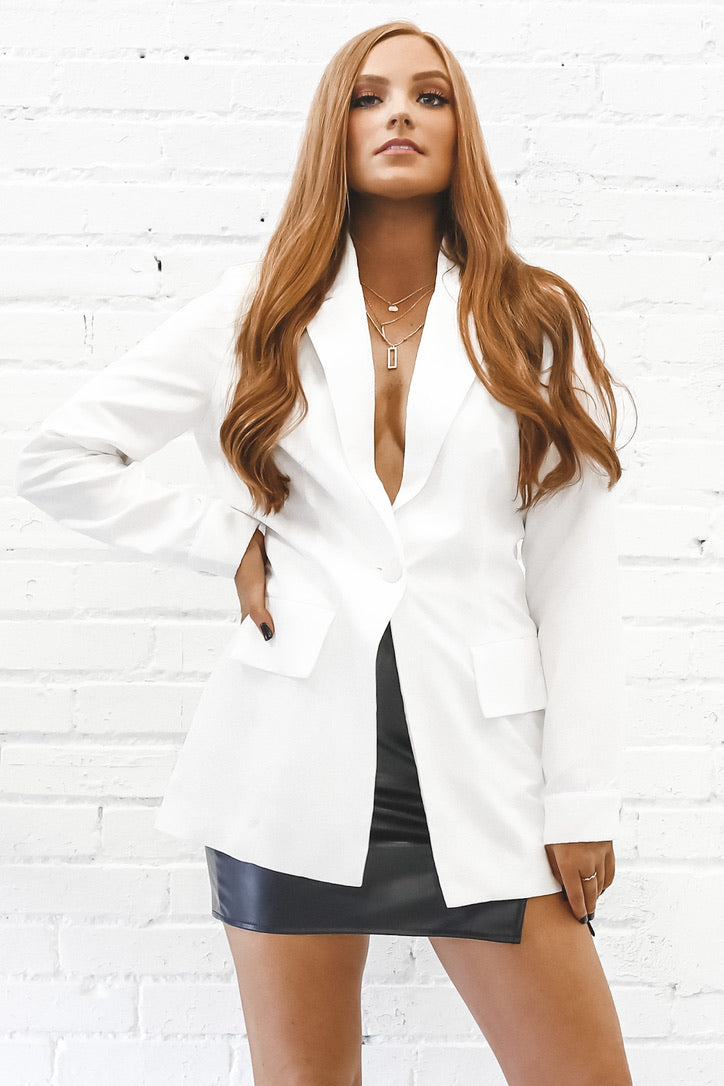 Welcome To New York White Blazer Jacket
