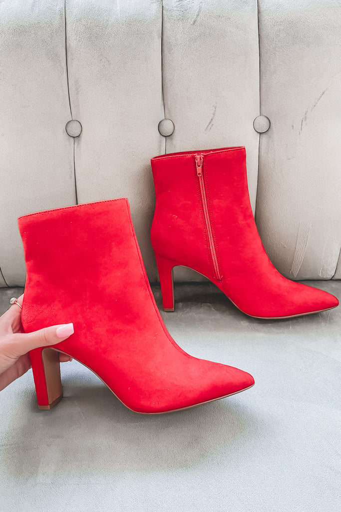 CHINESE LAUNDRY Red Erin Bootie