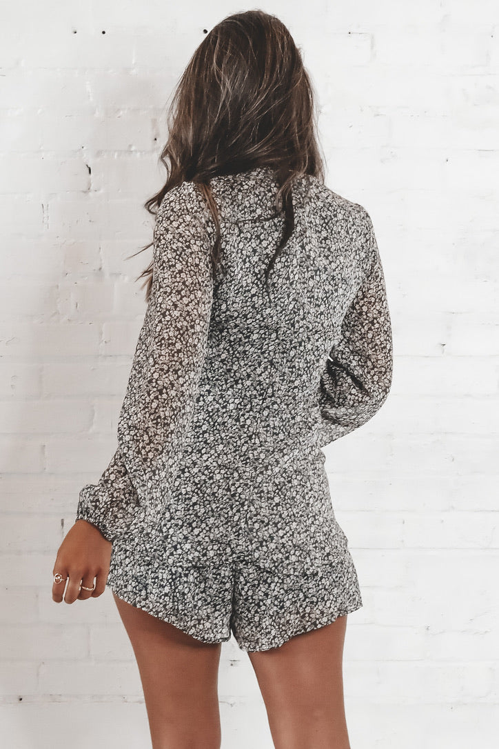 I'm A Dreamer Charcoal Layered Romper