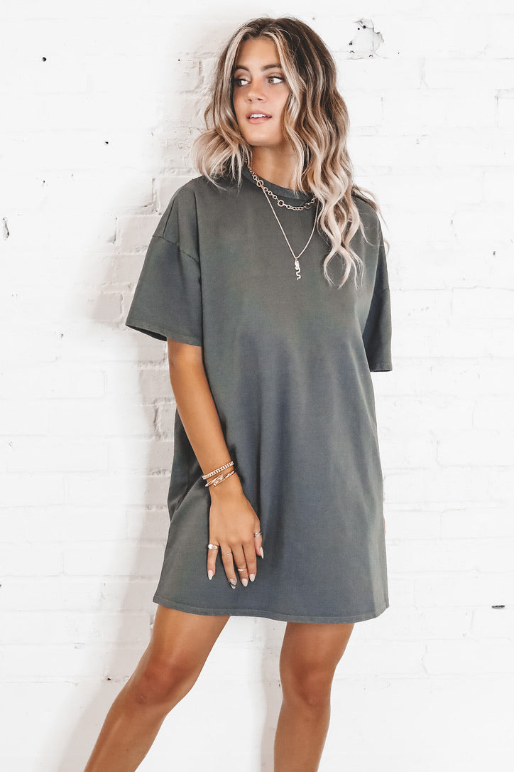 Thanks For The Memories Black T-Shirt Dress