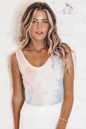Fun Date Night Tie Dye Bodysuit