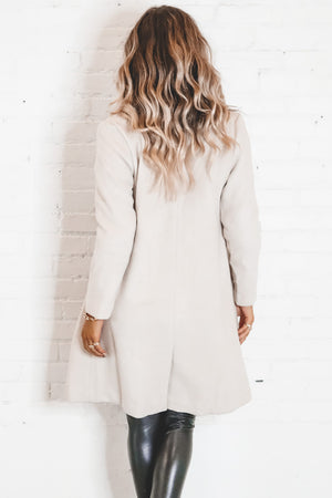 SAGE THE LABEL Beige Dusk Coat
