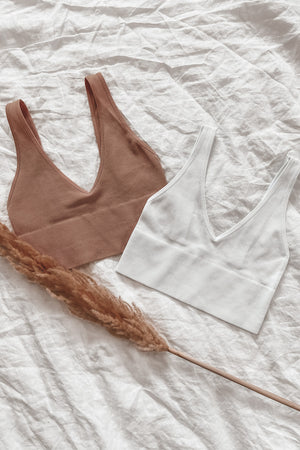 Eskimo Kiss Deep V Neck Bralette