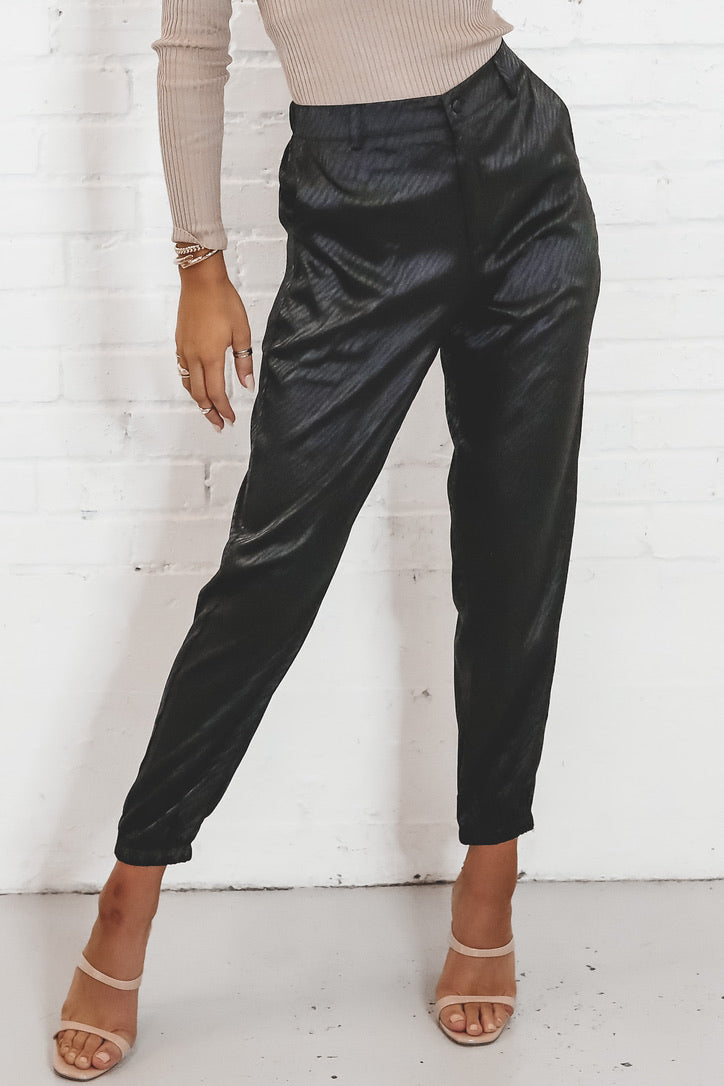 Boss Babe Black Printed Pants