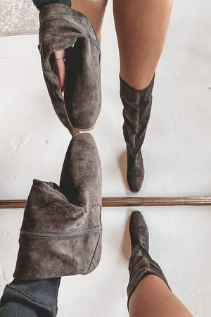 Step To The Beat Brown Knee High Boots