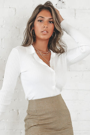 This Is How We Do It White Collared Top