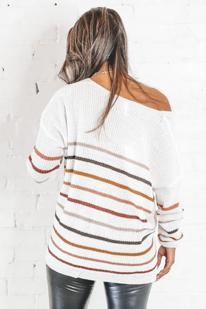 Day Dreaming Cream Striped Sweater