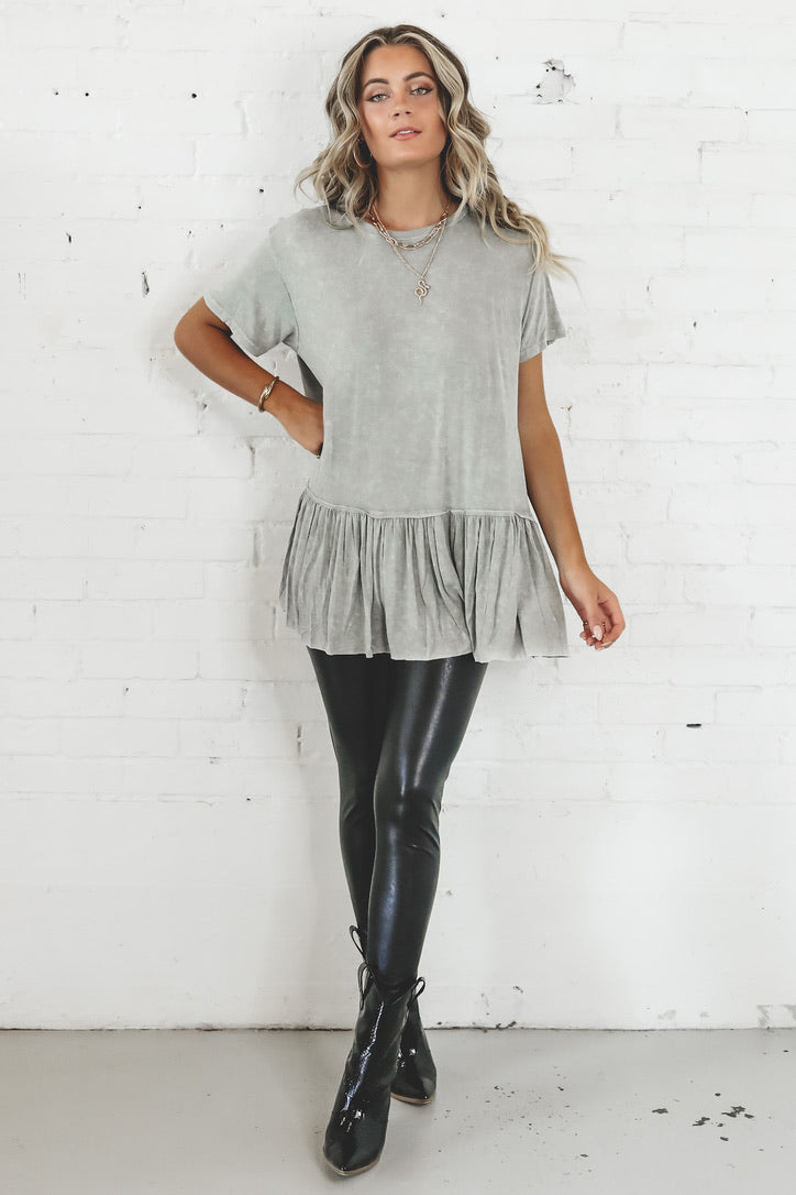 Lost In The Moment Sage Tiered Top