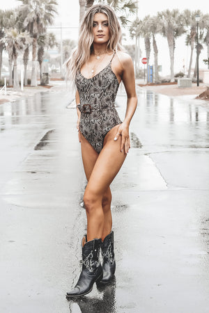 Buckle Up Beaches Belted One Piece