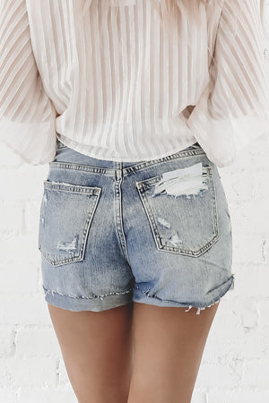 PISTOLA Jamie High Rise '90s Cuffed Shorts