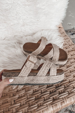 On To The Next Beach Woven Platform Sandal