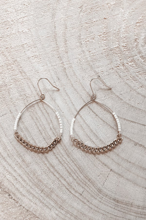 Best Of Both Gold Circle Earrings