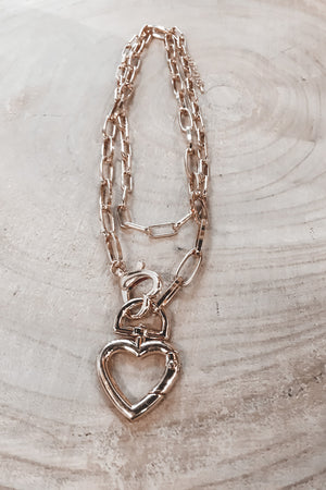Don't Open Your Heart Open Heart Necklace