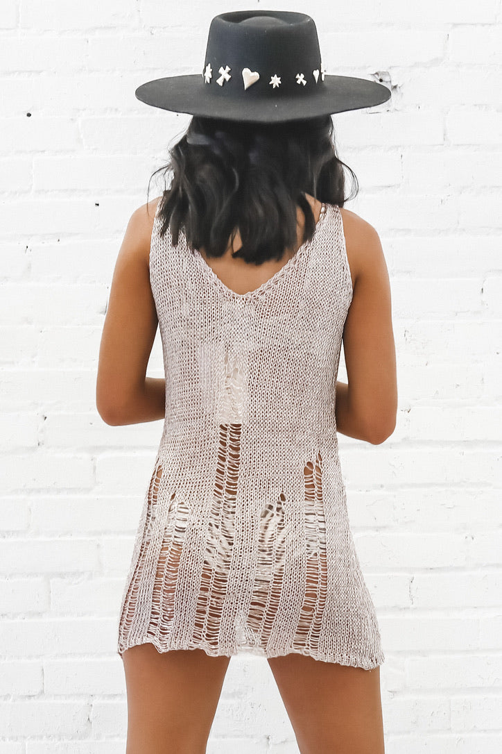 I'm Blushing Metallic Mini Dress