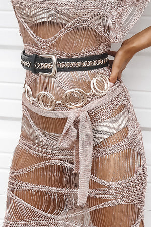 Gold Digger Double Ring Statement Belt