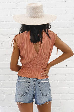 Brunch So Hard Pleated Top