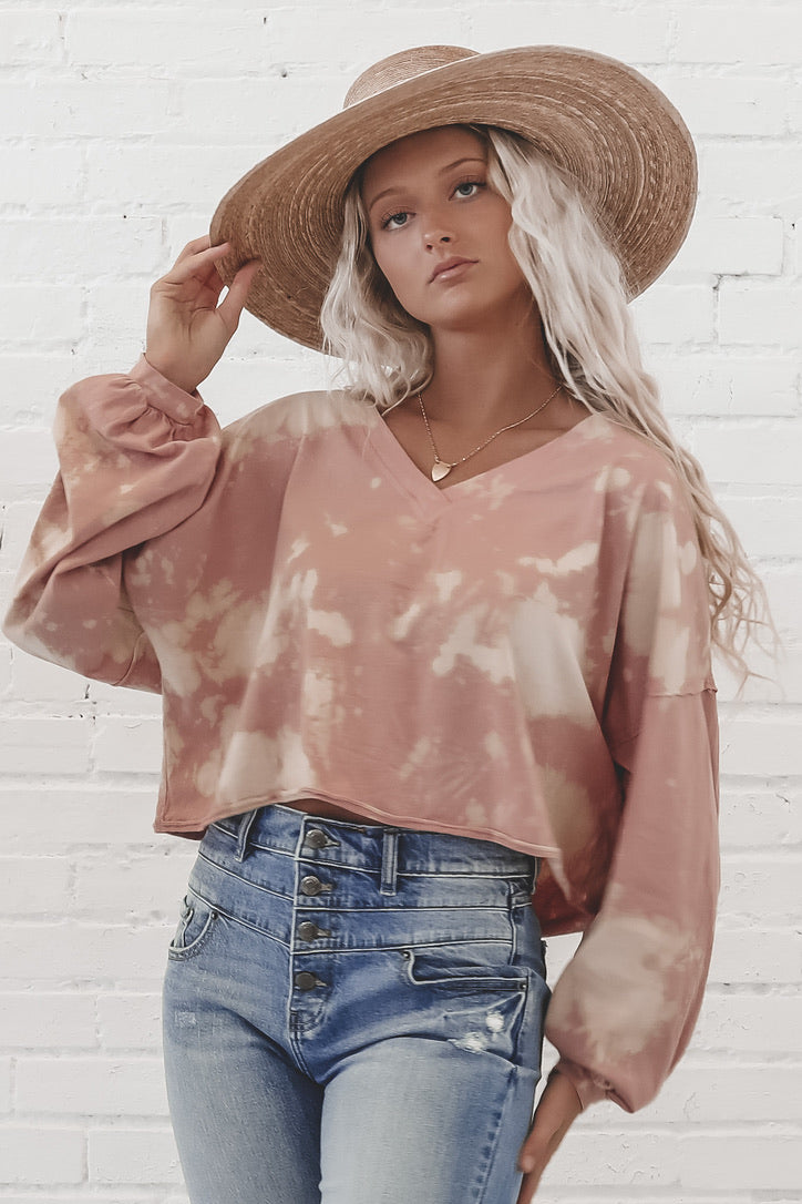 She Loves The Sunshine Tie Dye Knit Top