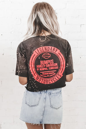 "Distressed VINTAGE ""Legendary Motorcycles"" Memphis, TN Harley Davidson T-Shirt 273"