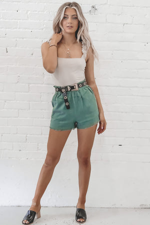 Don't Ditch Jade Relaxed Shorts