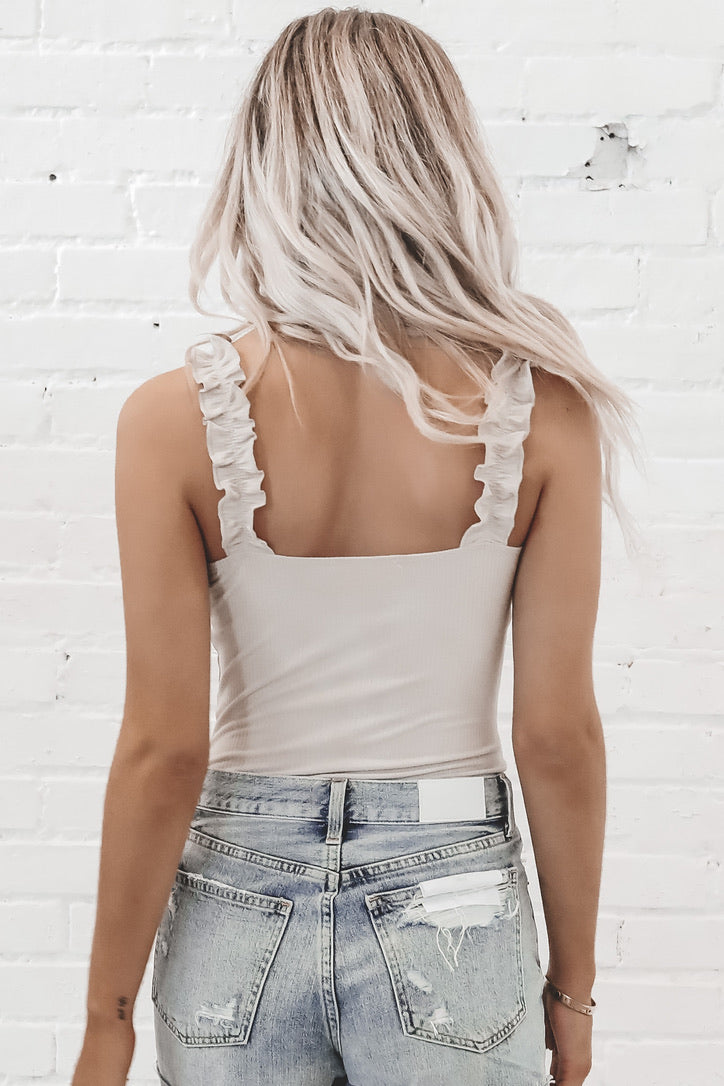 Back Up Plan Ruffled Bodysuit