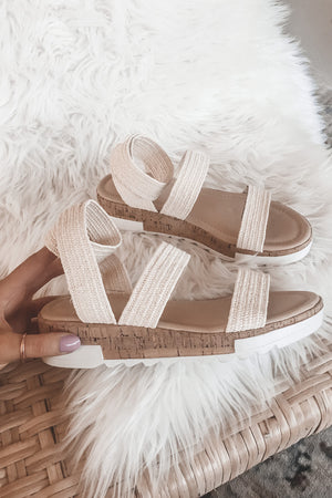Picnic On The Beach Cork Sandals