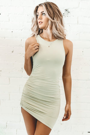 Keep It Casual Pistachio Sleeveless Dress